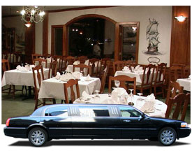 romantic dinner limousine
